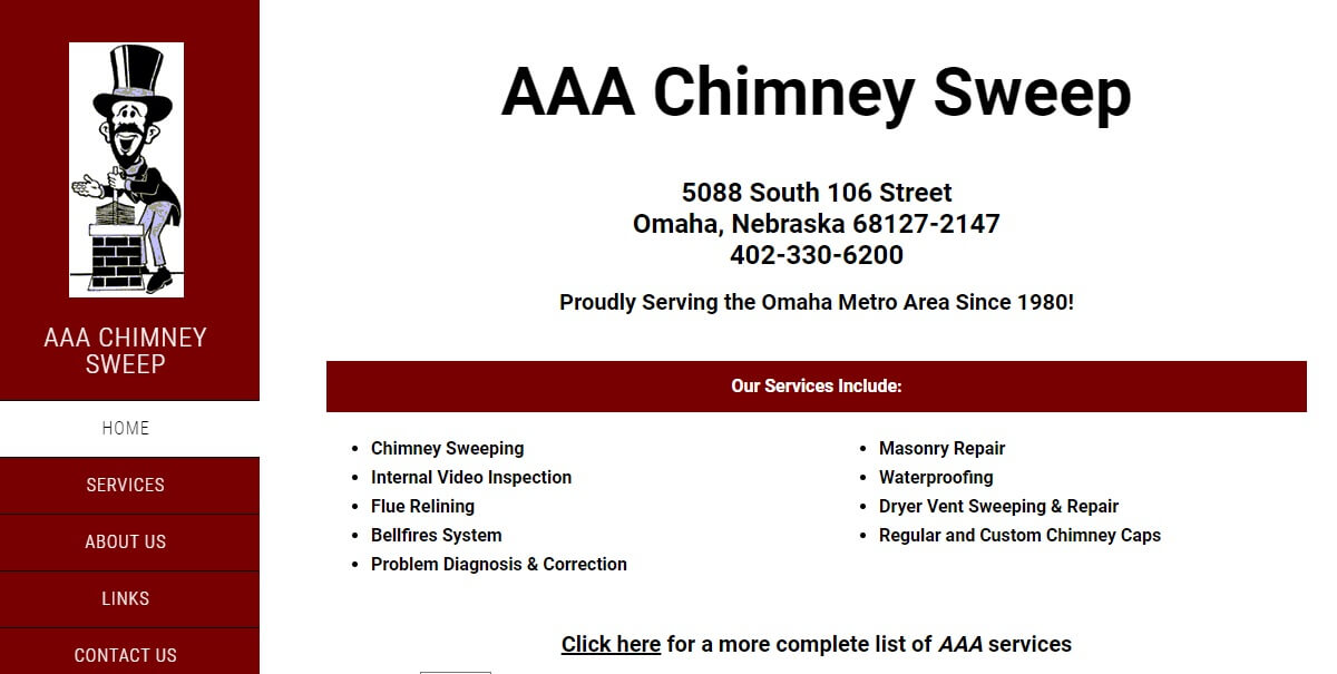 aaa chimney home page