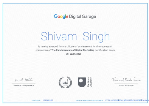 Google Digital Shivam